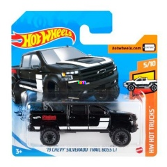 Hot Wheels - 19 Chevy Silverado Trail Boss LT kisautó, fekete